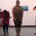Cocoon performance by artist Katarina Rasic in Bangalor 2016